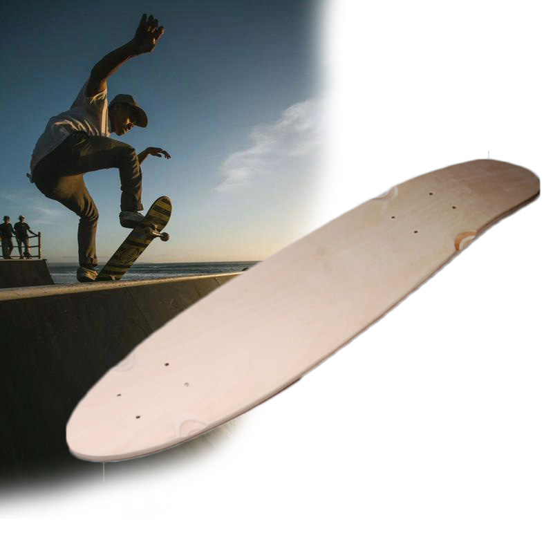 24/27inch Fish Skateboard Deck Mini Cruiser Board Maple  DIY 7-layer Blank Concave Board Professional  Four Wheels Fish Board