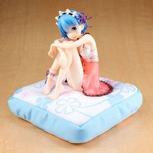 15cm Re:Life in A Different World From Zero Rem Action Figure Birthday Pajama Ver. Sexy Girl PVC Figure Collectible Model Toys
