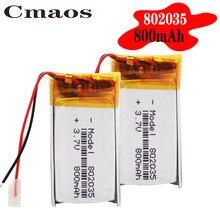 1/2/4 шт. 802035 3,7 в 800 мАч литий-полимерный аккумулятор 3 7 в Вольт li po ion lipo перезаряжаемые батареи для dvd GPS навигации
