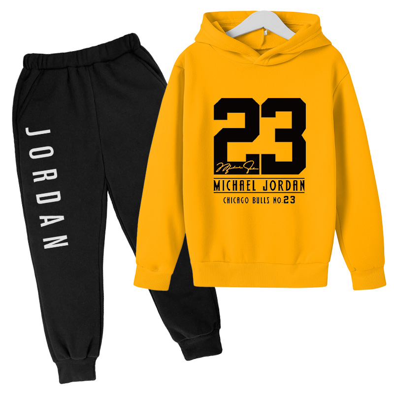 2021 Sports Fashion Kids 2 Pieces Cool Boy Hoodie + Trousers, Kids Sportswear Teen Clothes Wholesale