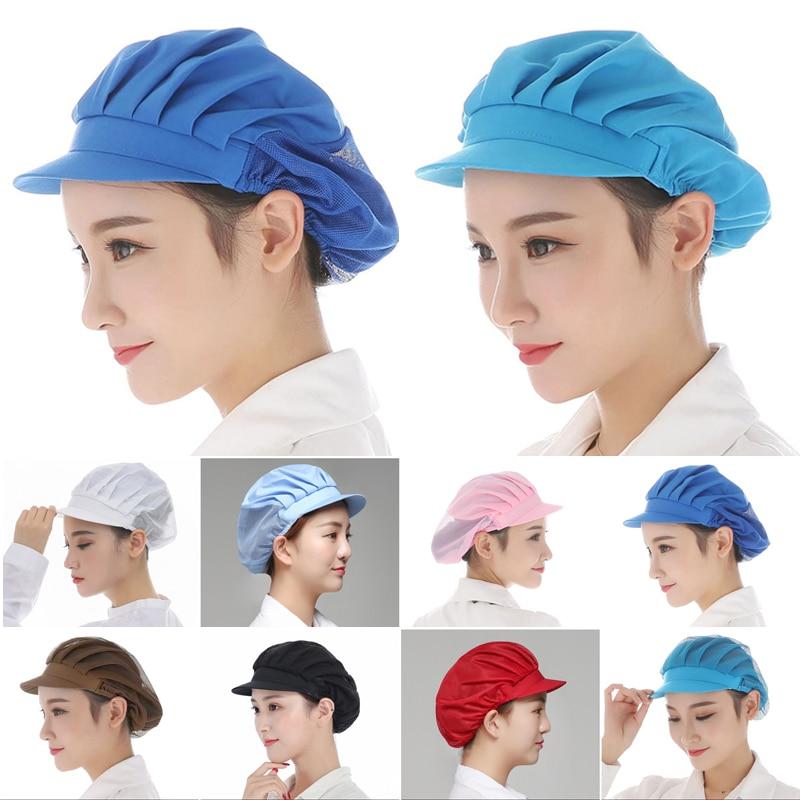 Unisex Men Women Elastic Mesh Caps Hat For Cafe Bar Kitchen Restaurant Hotel Bakery Chef Uniform Waiter Work Wear Workshop