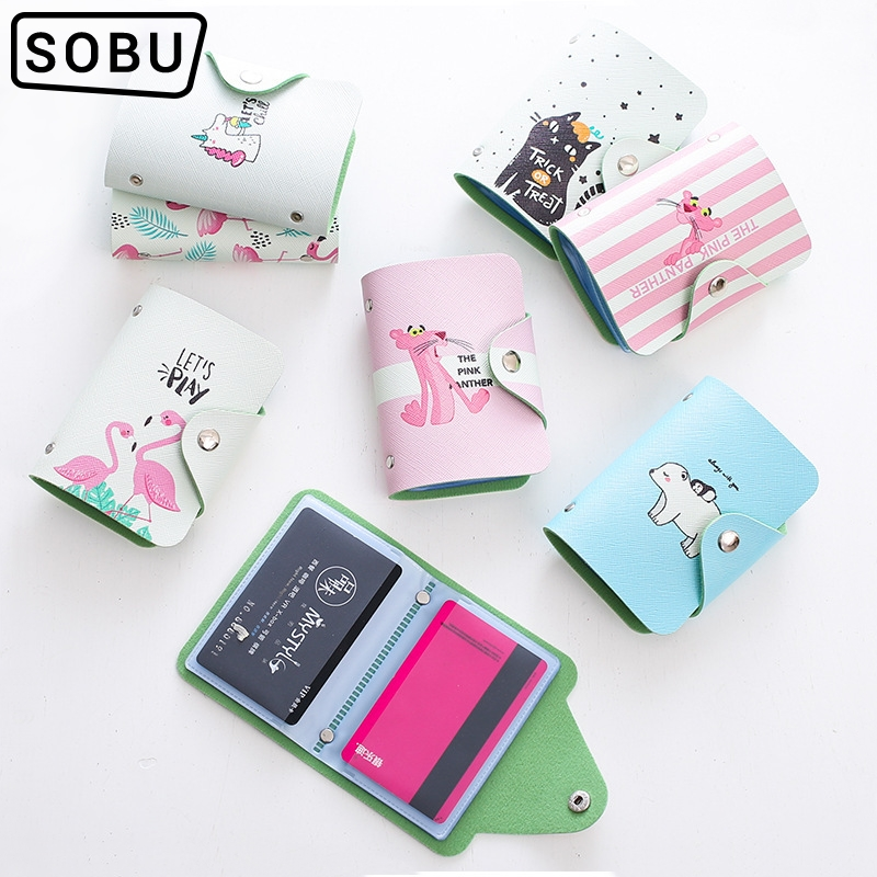 2019 Fashion PU Function 20 Bits Card Case Business Card Holder Men Women Credit Passport Card Bag ID Passport Card Wallet H084a