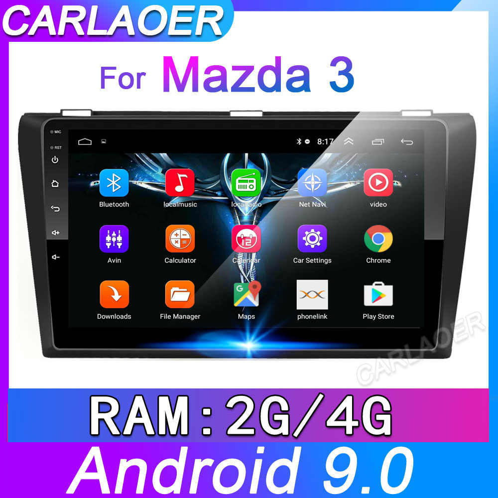 4G + 64G Android 9.0 Mobil Radio untuk Mazda 3 2004-2013 Maxx Axel Wifi Auto Stereo mobil Dvd Gps Navigasi Stereo Multimedia Pemain