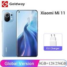 Version mondiale Xiaomi Mi 11 Mi11 8 go RAM 128 go/256 go ROM téléphone Mobile Snapdragon 888 108MP caméra 6.81
