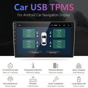 Image 3 - Jansite usbアンドロイドtpms車のタイヤ空気圧警報監視システム4つのセンサと車両androidプレーヤー温度警告