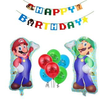 10pcs/set Super Mario Helium Balloon Party Decoration Banner For Birthday kids Ballon globos