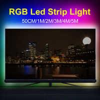 USB 5V Led Light RGB Strip Lamp Flexible Neon Ribbon Ambilight TV USB Strip LED Light Desktop Screen Backlight Lighting 2835 SMD