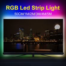 USB 5V Led Light RGB Strip Lamp Flexible Neon Ribbon Ambilight TV LED Desktop Screen Backlight Lighting 2835 SMD