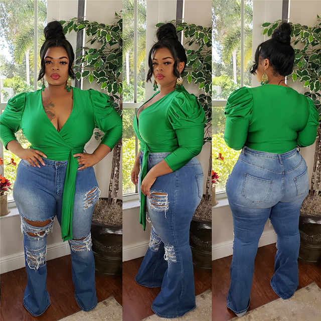 Autumn Women Tops and Blouses Solid Color V Neck Long Sleeve Tops Plus Size Women Blouse Office Shirt Wholesale Dropshipping 3