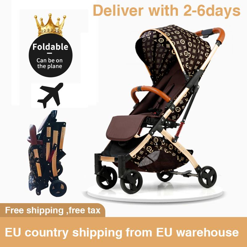 8 Gifts Lightweight Stroller  Portable Travel Stroller Can Sit Reclining Newborn Car Fold Shock Boarding Stroller Free Shipping