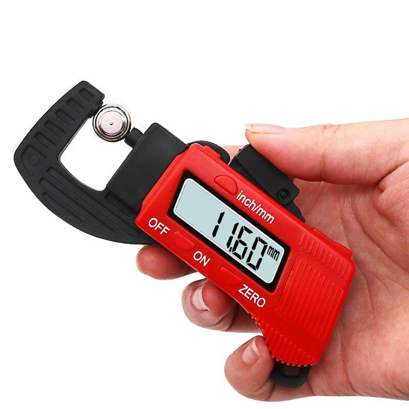 New Micrometer Dial Gauge Digital Thickness Gauge Carbon Fiber Dial Indicator Caliper Dial Meter Measuring Tools 0.01mm 0-12.7mm