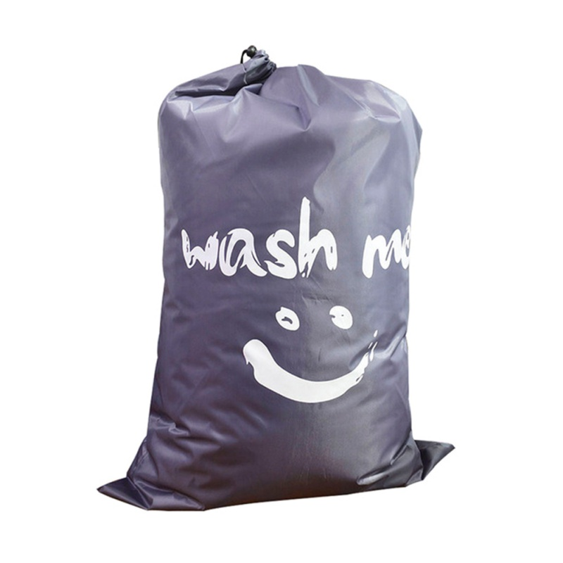 HIgh Quality Hot Sale Portable Smile Printing Drawstring Type Laundry Bag Oxford Cloth Polyester Laundry Bag For Bathroom