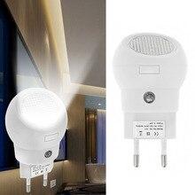 Новейший светодиодный ночной Светильник 360 вращения Plug And Play с светильник чувство автоматический переход в режим включения или выключения для маленьких Спальня