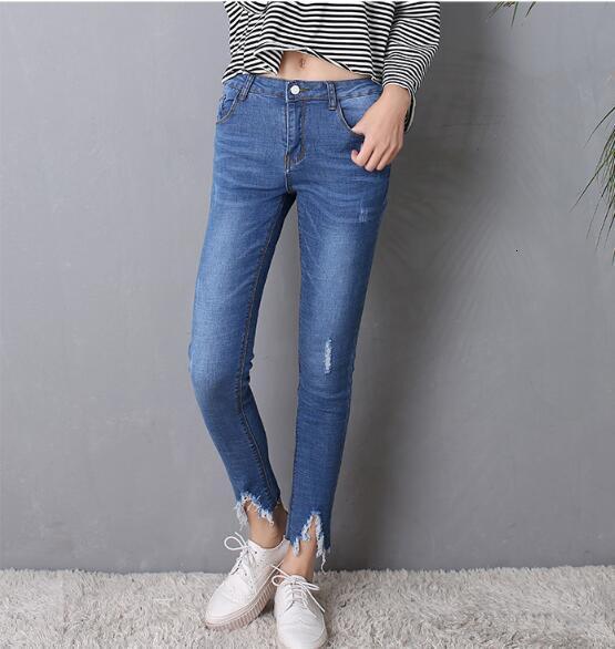 Gat Джинсы женские девять очков Осенние новые стрейч женские джинсы ретро тонкие узкие брюки женские