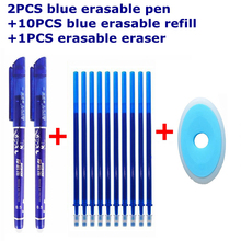 Buy 13/12Pcs/Set Gel Pen 0.5mm Erasable Washable Handle Erasable Pen Refill Rod Blue Black Ink School Stationery Office Writing Tool directly from merchant!
