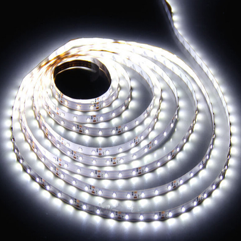 5M 300 LED Strip Light DC12V Ribbon Tape Brighter SMD3528 Cold White/Warm White Non-waterproof 60leds/m