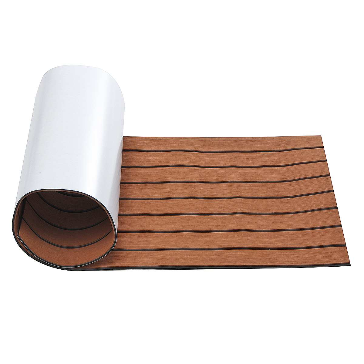 Self Adhesive Marine Floor EVA Foam Imitated Teak Boat Deck Mat Brown Yacht Flooring Anti Skid MatRecreational Vehicle Pad