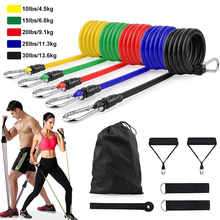 11Pcs/Set Hanging Resistance Band Crossfit Exercise Tubes Pull Rope Rubber Bands Fitness Equipment Latex Resistance Bands TRXPRO
