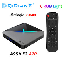 A95XF3 Air RGB Light กล่องทีวี Android 9.0 Amlogic S905X3 กล่อง 8K HD 2.4/5G WiFi Media server Android TV กล่อง A95X F3 AIR PK X96AIR