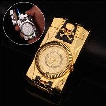 Multiple Modeling Clock Watch Quartz Lighter Compact Butane Jet Torch Cigarette Cigar Straight Fire