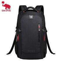 Oiwas sacos de escola 14 polegada mochilas portáteis à prova dnylon água náilon 29l casual ombro bagpack viagem adolescente mochila masculina