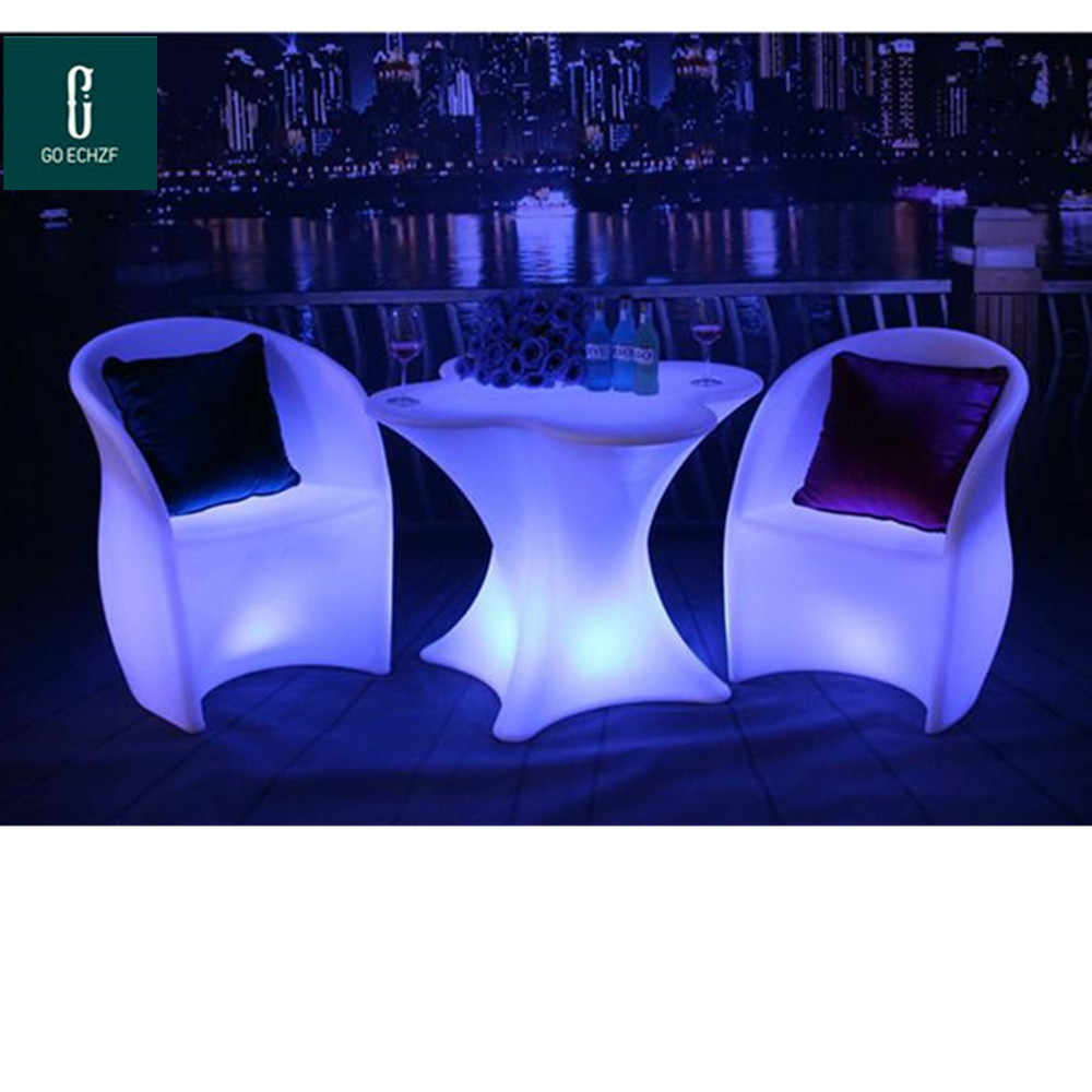 New Rechargeable Led Luminous Cocktail Table Waterproof Glowing Led Bar Table Lighted Up Coffee Table Bar Ktv Disco Party Supply Bar Tables Aliexpress