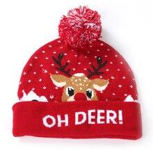Original Cartoon Weihnachten Decor Hut Designs LED Weihnachten Pullover Kappe Santa Licht Strickte Hut Party Dekoration Neue Jahr Geschenke