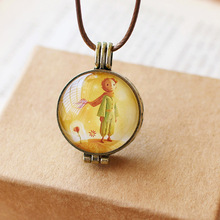 Fairy Tale  Little Prince and Rose Necklace pendant Phase of Aromatherapy Oil Box the