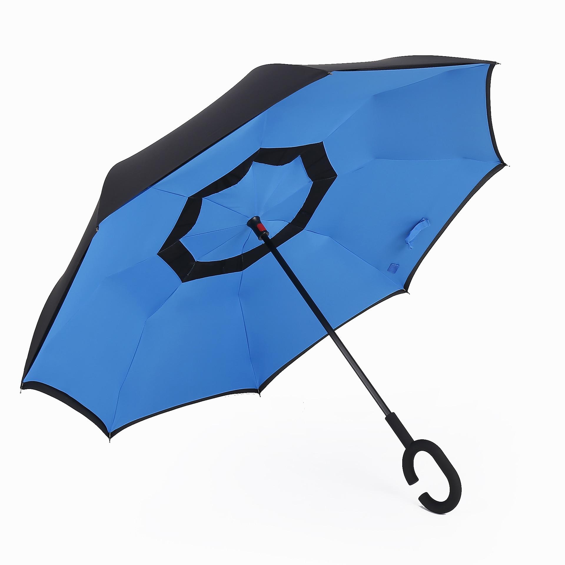 [Manufacturers Direct Selling] Creative Reverse Umbrella Car C- Shape Hands-Free Ultra Large Vehicle Umbrella Customizable Logo