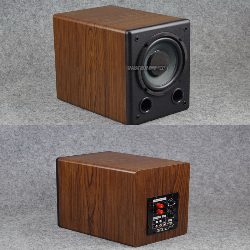 KYYSLB 30-60W 4-8 Ohm 6.5 Inch Subwoofer Active Speaker SW-6D Low Frequency Fever Subwoofer Passive Speaker Wood Grain Black