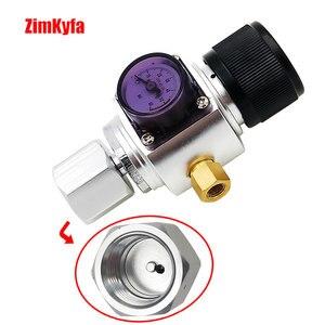 Image 3 - Мини CO2 газовый регулятор с адаптером для пейнтбольного бака, конвертер для домашнего пивоваренного керна 0 ~ 60PSI