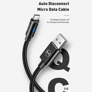 Image 2 - 10 יח\חבילה Mcdodo מיקרו USB כבל 2A לסמסונג גלקסי S9 בתוספת Huawei QC3.0 מהיר טעינה אוטומטי ניתוק USB מטען נתונים כבל