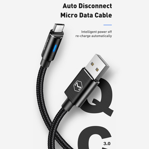 Image 2 - 10Pcs/lot Mcdodo Micro USB Cable 2A For Samsung Galaxy S9 Plus Huawei QC3.0 Fast Charging Auto Disconnect USB Charger Data Cable