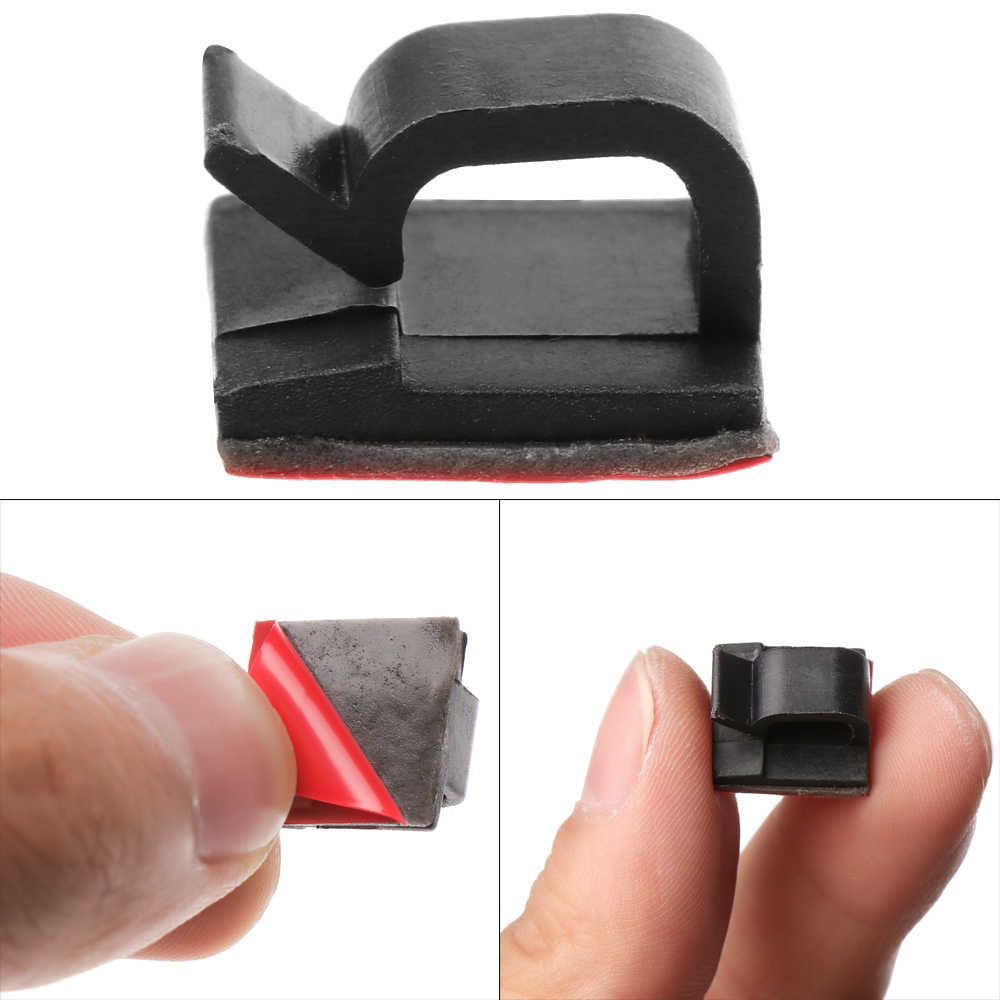 50pcs Self Adhesive Cable Clips Management Wire Holder Clamp Tidy Organizer