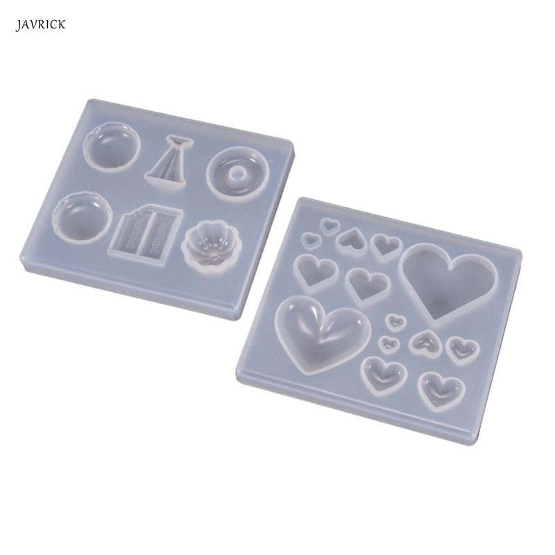 UV Resin Molds Crafts Making DIY Crystal Epoxy Mold Candy Heart-shaped Patch Decoration Silicone Molds