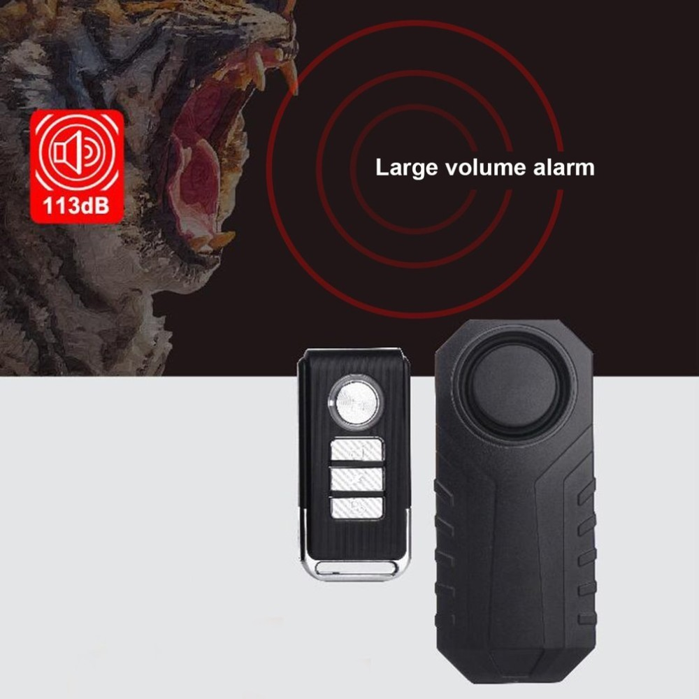 Waterproof Bike Motorcycle Electric Bicycle Security Anti Lost Wireless Remote Control Vibration Detector Alarm