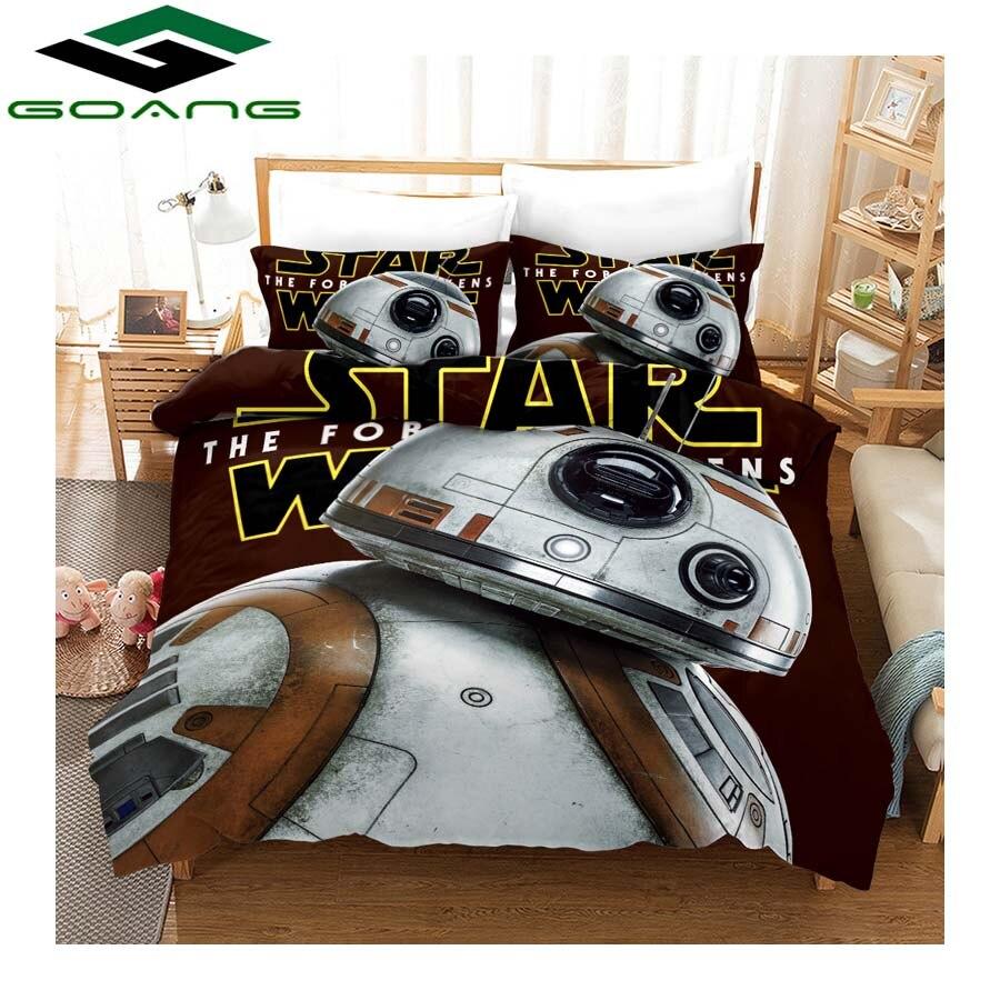 GOANG kids bedding set 3d digital printing Star Wars bed sheet duvet cover and pillowcase luxury bedding home textiles Hot sale