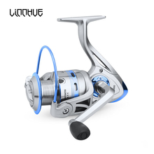LINNHUE Spinning Reel 12 BB Stainless Steel 500-6000 Metal Coil Spool Ice Gigging Fishing Pesca accessory