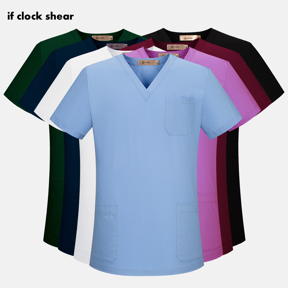 Medical Surgical Uniforms High Quality Unisex Operating Room Doctor Scrub Tops Dentist Clinic Pharmacy Pet Hospital Workwear New