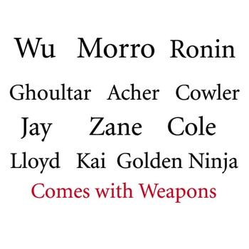 2020 Characters Kai Jay Cole Zane Lloyd Morro Wu Cowler Acher Ronin DECOOL Building Blocks Set Toys Fit NinjagoINGlys 2019 Movie