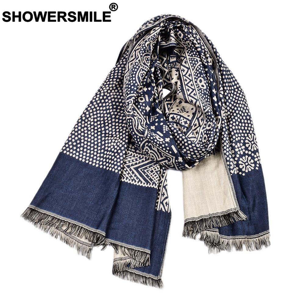 Lenço de inverno estilo étnico masculino lenços de algodão marinho linho de malha borla cachecol masculino 195cm * 65cm