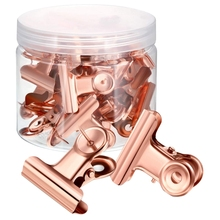 40 Pcs Push Pins Clips with Thumb Tacks Set for School Artworks Projects on Cork Board Photos on Bulletin (Rose Gold)