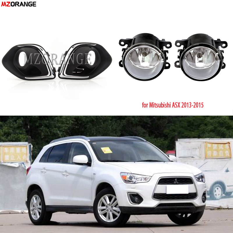 Fog Lights For Mitsubishi ASX RVR Outlander Sport 2013-2015 LED Fog Light Covers Foglight With Wiring Grilles Harness Switch Kit