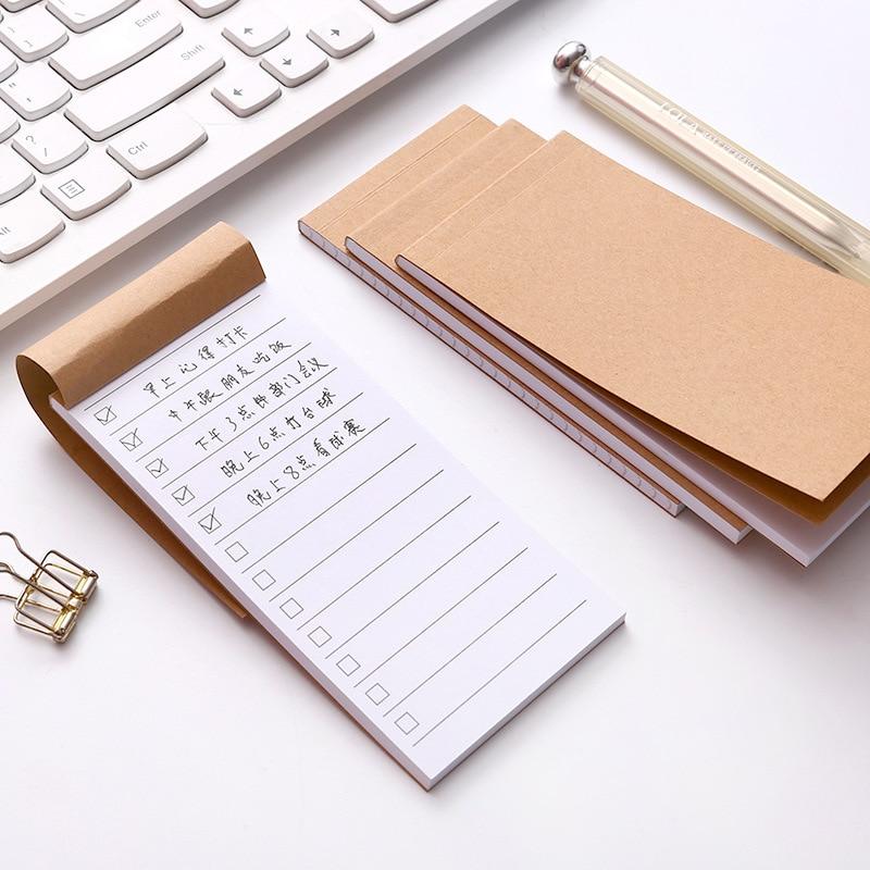 Карманная бумага из крафт-бумаги блокнот для заметок канцелярские принадлежности для скрапбукинга записная книжка для списка переписей бл...