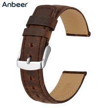 Кожаный сменный ремешок anbeer для мужчин и женщин винтажный