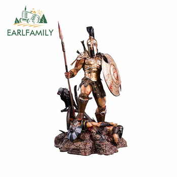 EARLFAMILY 13cm x 7cm for Olympus God of War Apec Cartoon Decal Personality Car Stickers Personality Motorcycle Vinyl Car Wrap image