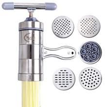 Ручной пресс для лапши из нержавеющей стали, машина для приготовления макаронных изделий, резак, соковыжималка для фруктов, кухонная утварь, инструменты для спагетти LB824121