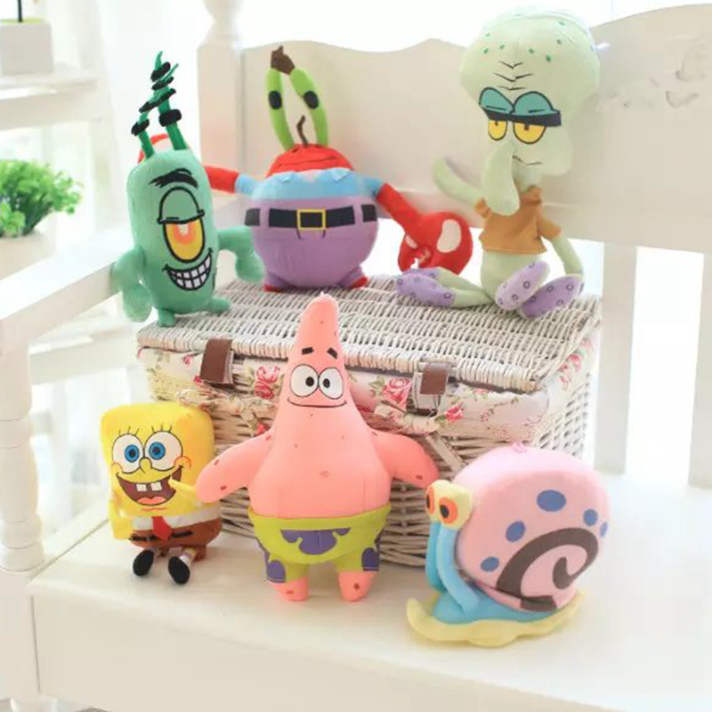 Cute SpongeBob Plush Toys Patrick Star & Squidward Tentacles & Eugene & Sheldon & Gary Stuffed Lovely Dolls For Kids Girls Gifts