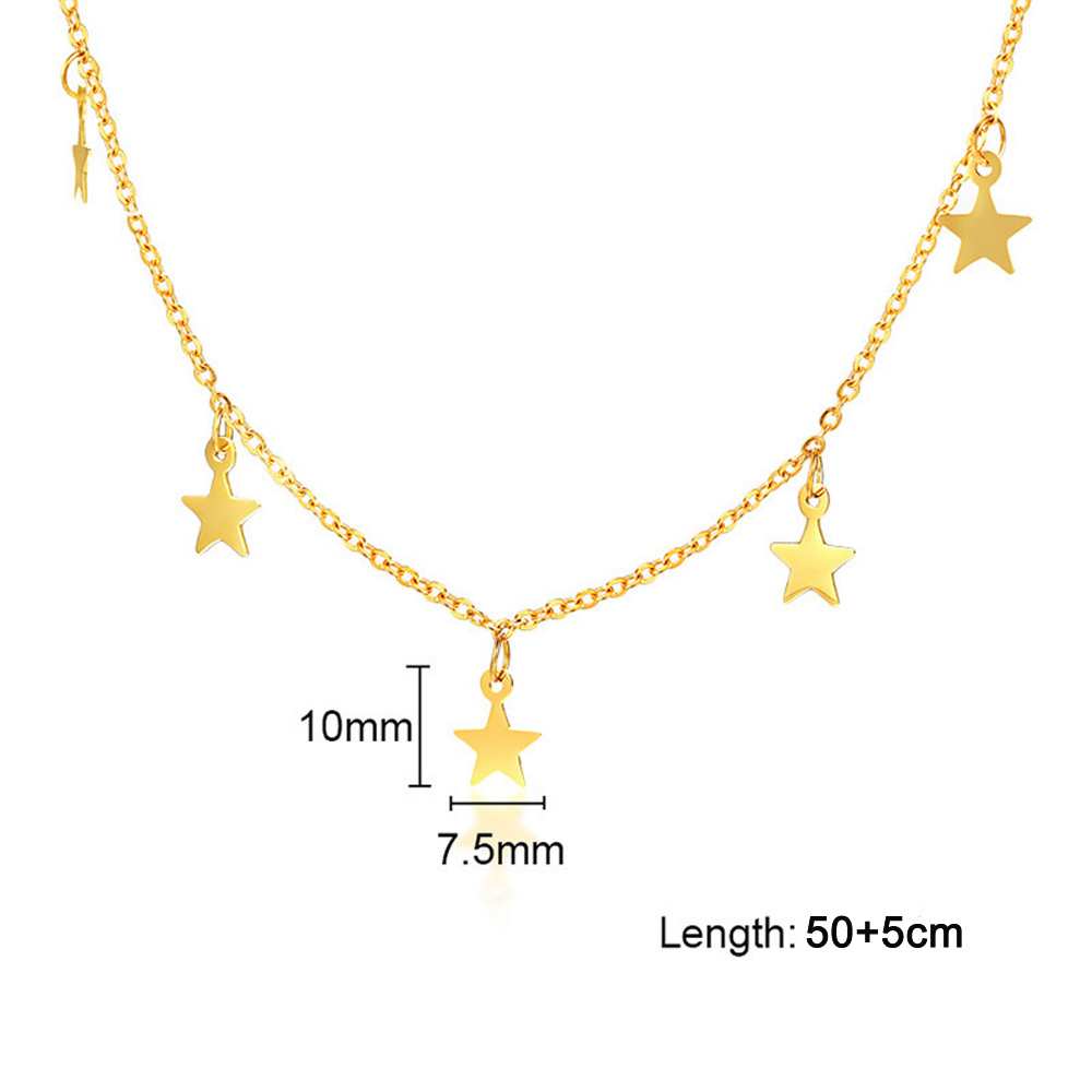 Star-Charm-Choker-Necklaces-for-Women-Stainless-Steel-Female-Party-Girls-Chian-Clavicle-Necklace-Street-Wear