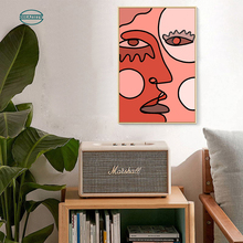 Abstract Cubism Face DrawinCanvas Painting  Wall Poster Prints For Living Room Wall Art Retro Decorative Wall Painting No Frame cubism